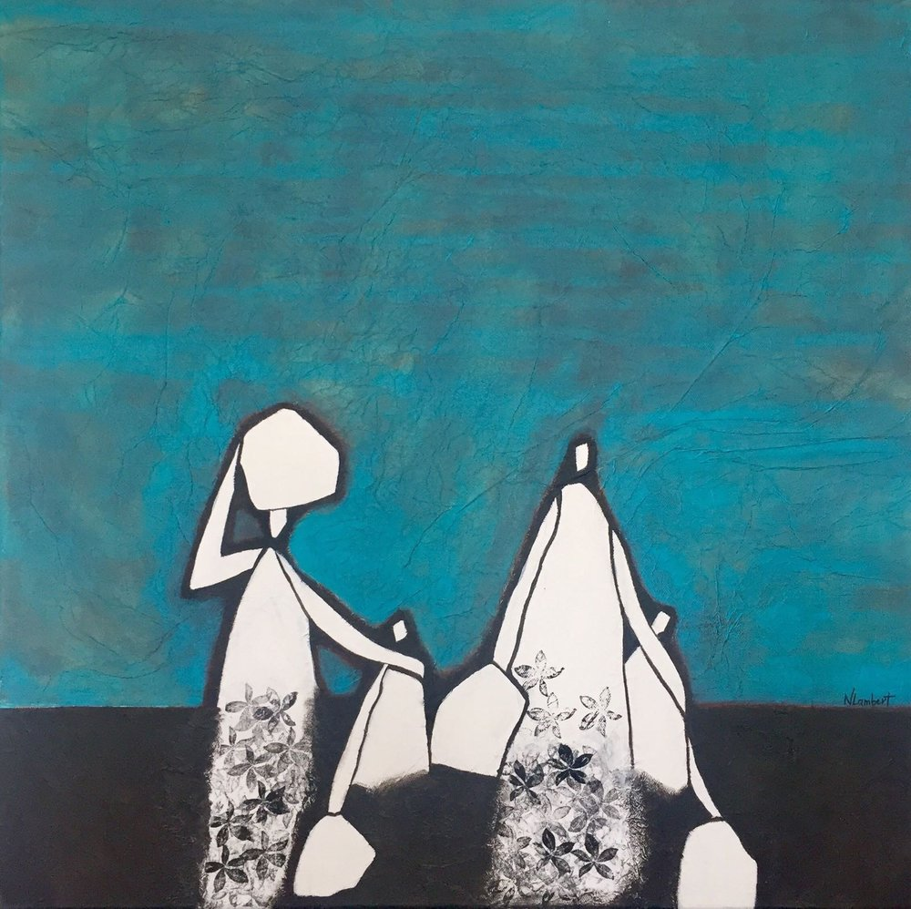Peinture: Nathalie Lambert-Séchaud, issue de la série  Migrations