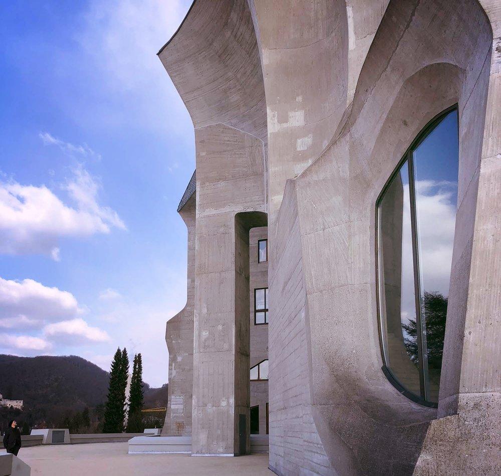 Goetheanum, façade nord-ouest