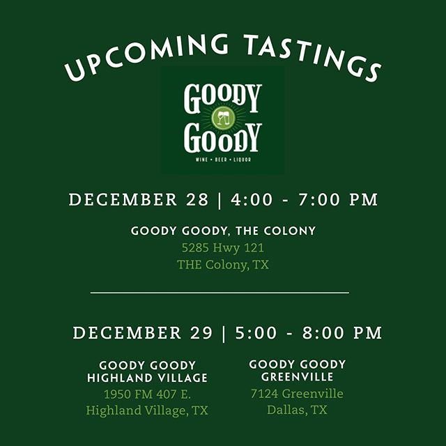 If you haven't yet experienced our premium sipping vodka, here's your chance! Come sample all Duckworth flavors this week during some special tastings at two Goody Goody locations. • • • • #vodkatasting #goodygoody #vodka #duckworthvodka #frenchoakvodka #texas #texasvodka #dallasdistillery #dallasvodka #bartender #cocktail #mixologist #dallas #austin #adultbeverage #cocktails #smoothvodka #bestvodka #grapefruitvodka #trufflevodka #truffle #premiumvodka