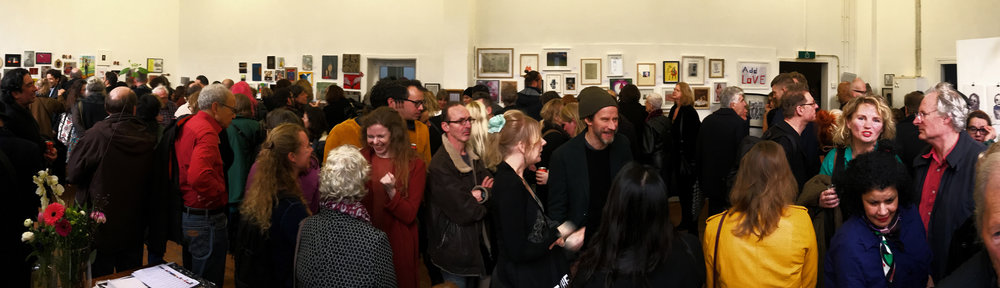 Quite the full house at the opening of the exhibition in Amsterdam, the Netherlands.