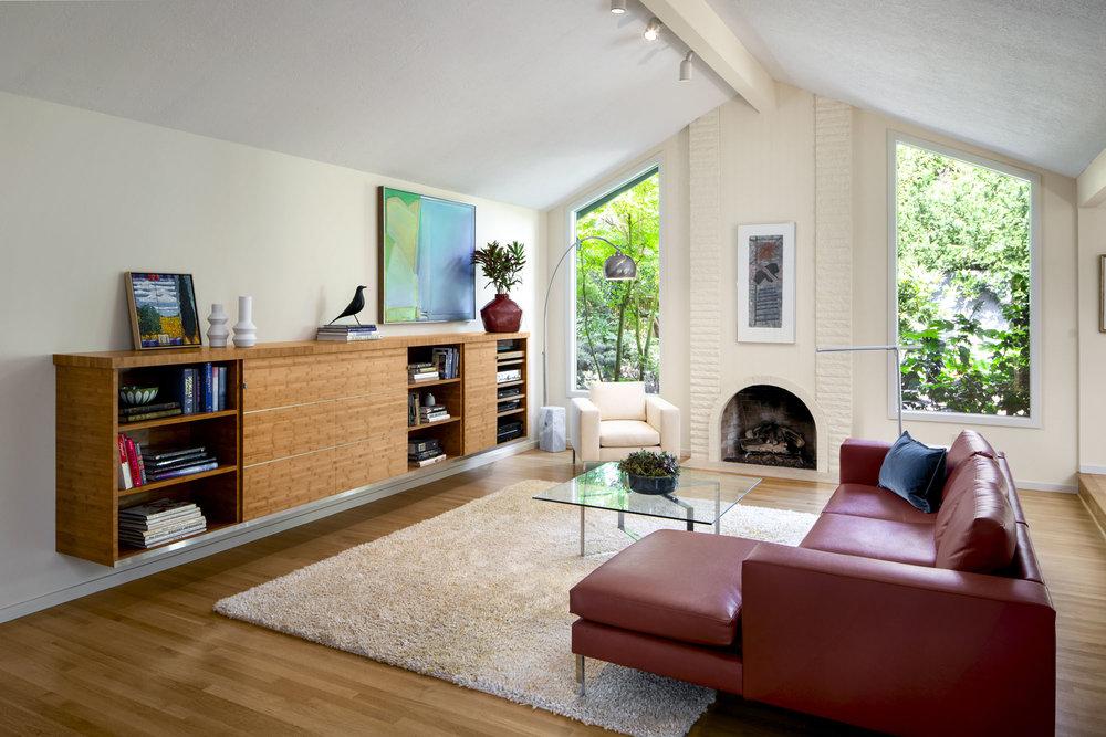 sw portland midcentury home remodel interior design portland or