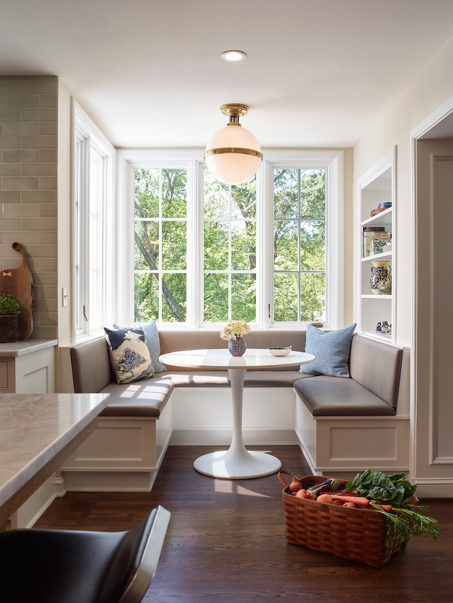 Custom Breakfast Nook in Eastmoreland Colonial Revival