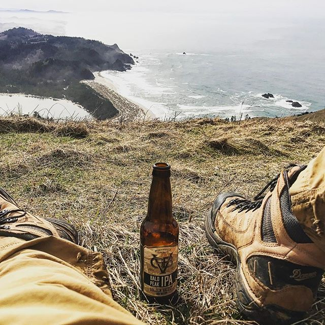 Conquer any peaks this weekend?  This is the Cascade Head trail just north of Lincoln City and it's a beautiful one!! #beerisbetteratthetop #baldpeakipa #gvb #oregon #craftbeer #hiking #oregoncoast #dannerboots #beach