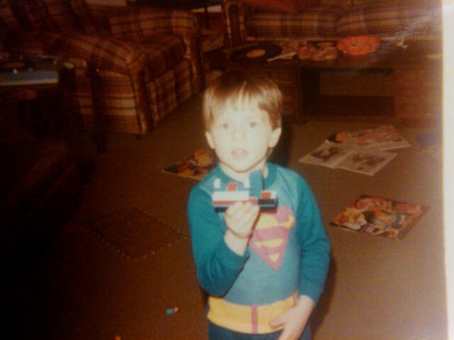 Adam, age 5, as Superman