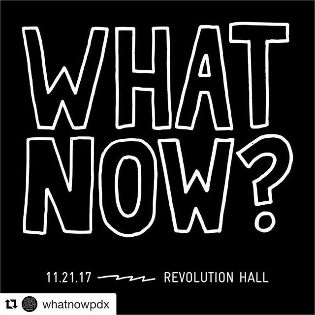 Great event happening in Portland today! Check it out 🖤 @whatnowpdx