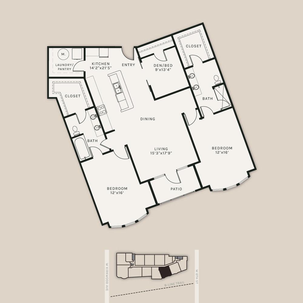 The Auburn | 1617 SF, 3 BR, 2 BA