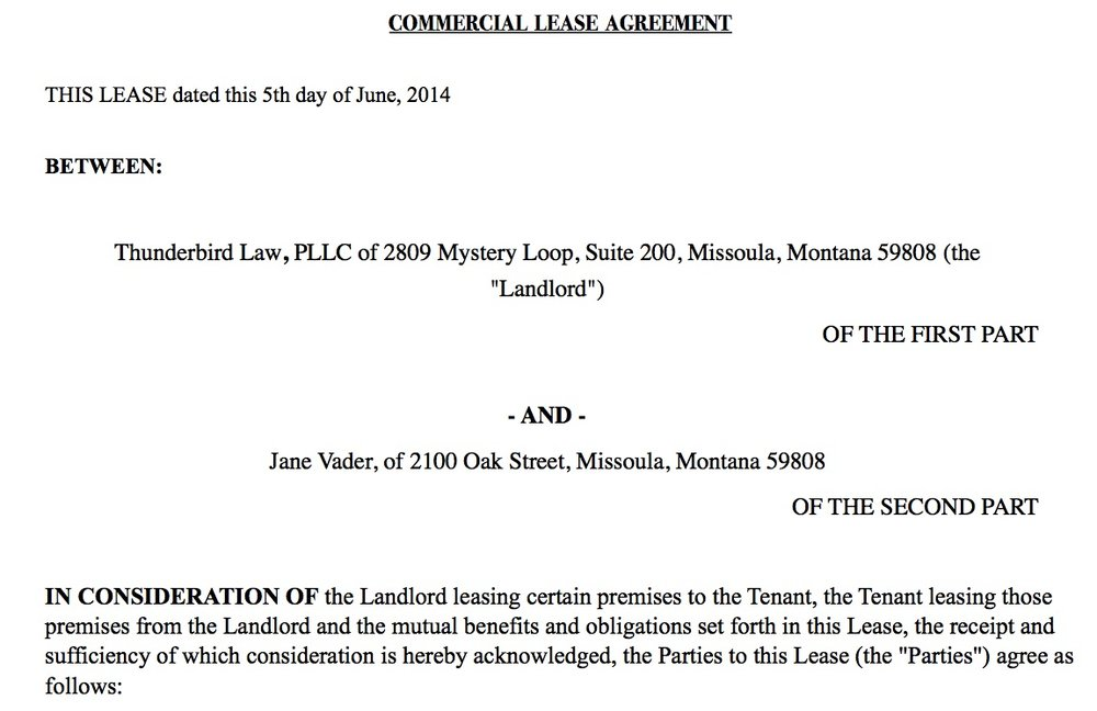 Key Provisions In Retail Leases Thunderbird Law