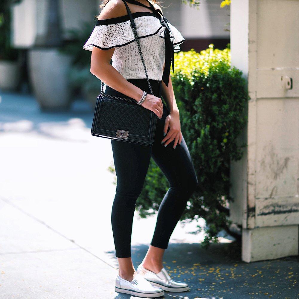 Crochet Top,  Jeans ,  Sneakers  (similar)