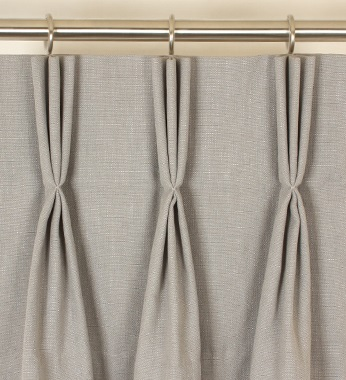 Double pleat curtain