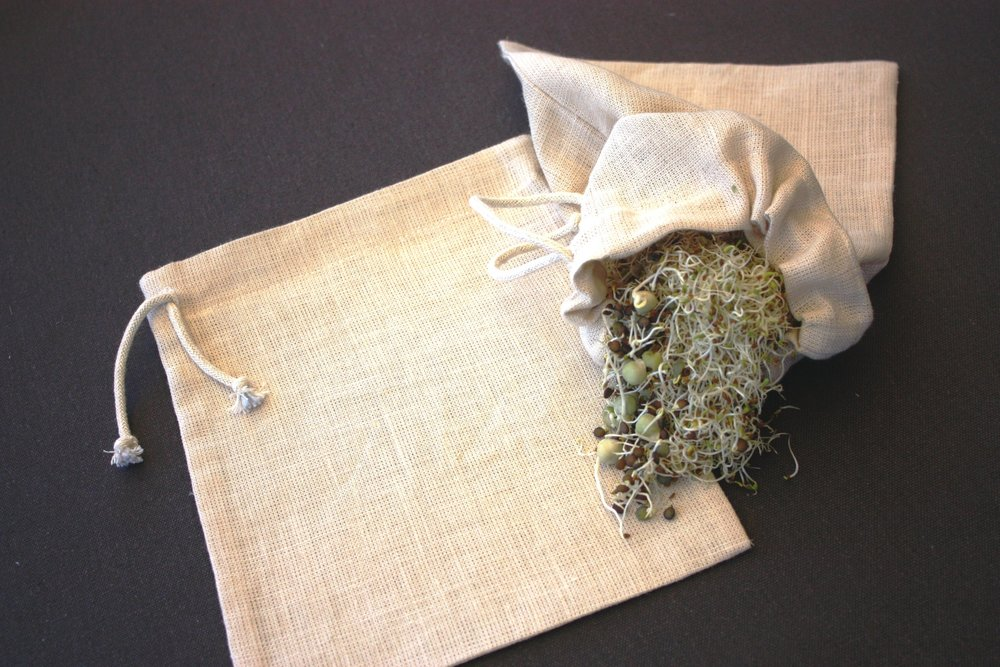 How to sprout seeds using a Hemp NutMilk Bag