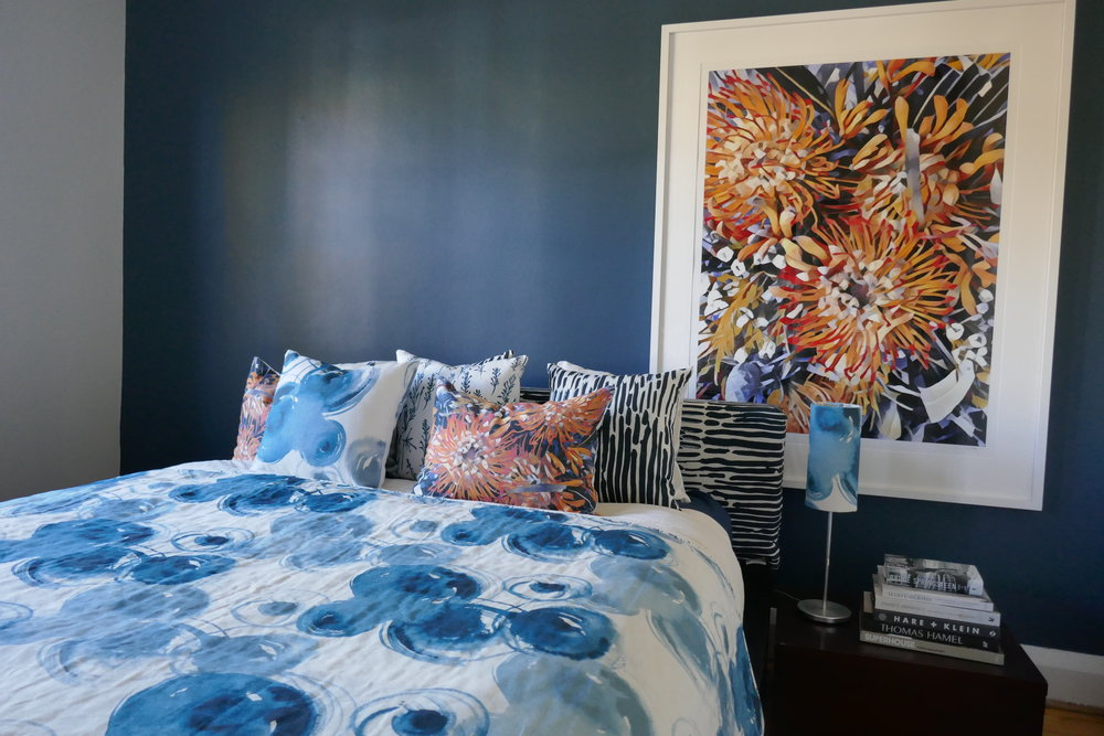 Interior Design by St James Whitting using Hemp Gallery Australia fabrics and products