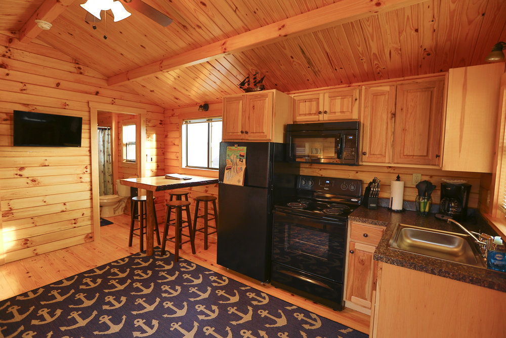Lakefront Cabins Full Kitchen | Treasure Beach
