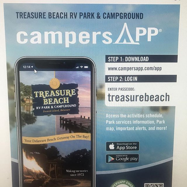 NEW FOR 2019: Please download our new campers App. This will let you access the activities scheduled, park map, important details, and much more!