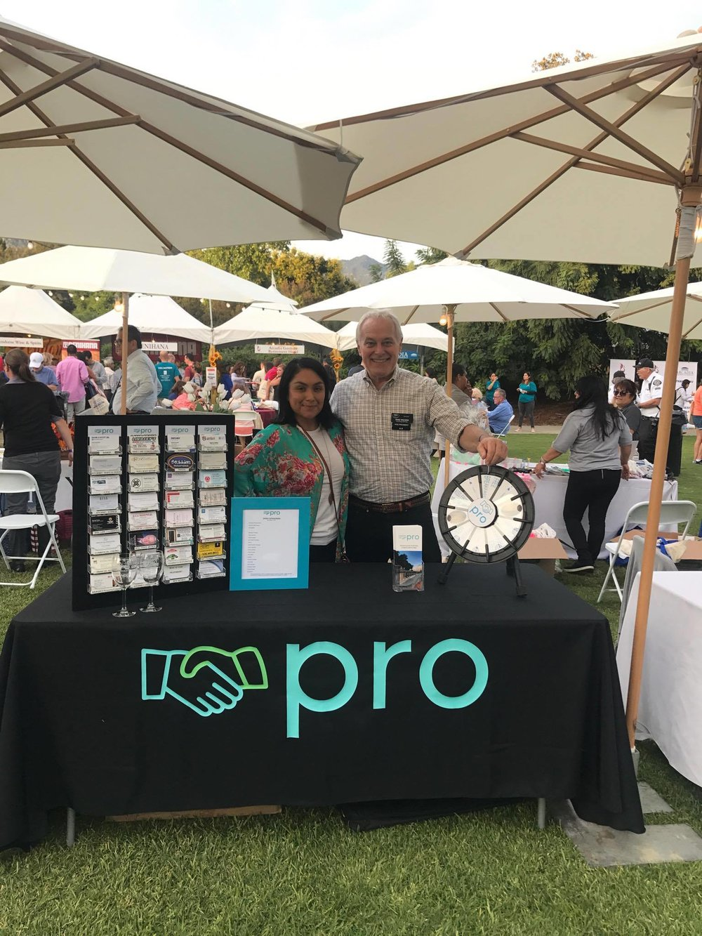 Our events coordinator Irene and VP Mike manning the Pro booth at Taste of Arcadia 2017