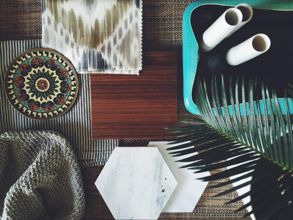 Interior Design Matierials Palette