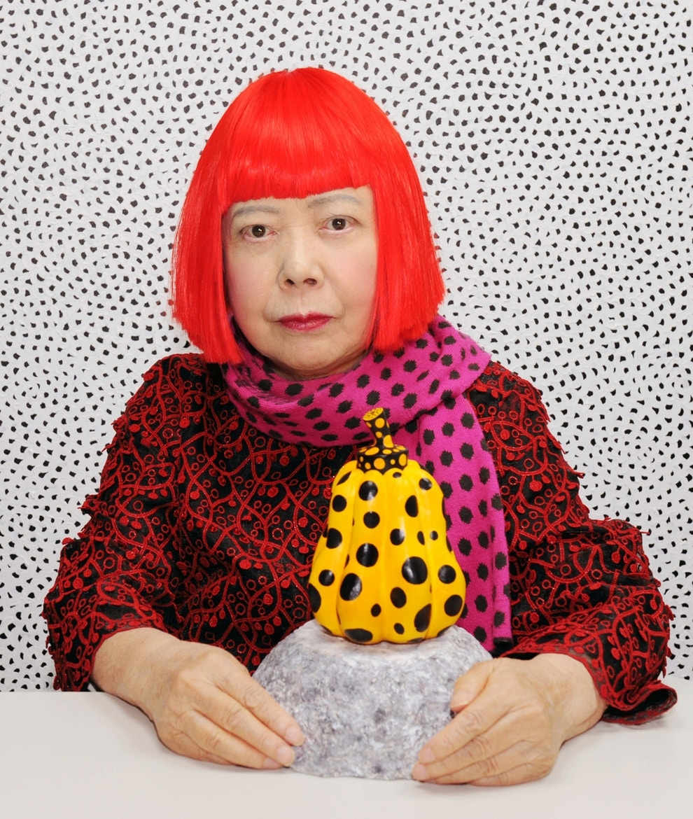 "SIXTH SENSE/ YAYOI KUSAMA - ""After all, well, moon is a polka dot, sun is a polka dot, and then, the earth where we live is also a polka dot."". Kusama, is on to something. Instead of being hindered by her societal handicaps she taps into that darkness and creates literal pointillism. She feels the ancient, celestial spheres imbedded in our daily life and uses them repeatedly. An exemplar to a theory developed by Oliver Sachs, that our weaknesses can be strengths. On occasion, she has even been rumored to hear the dots as well."