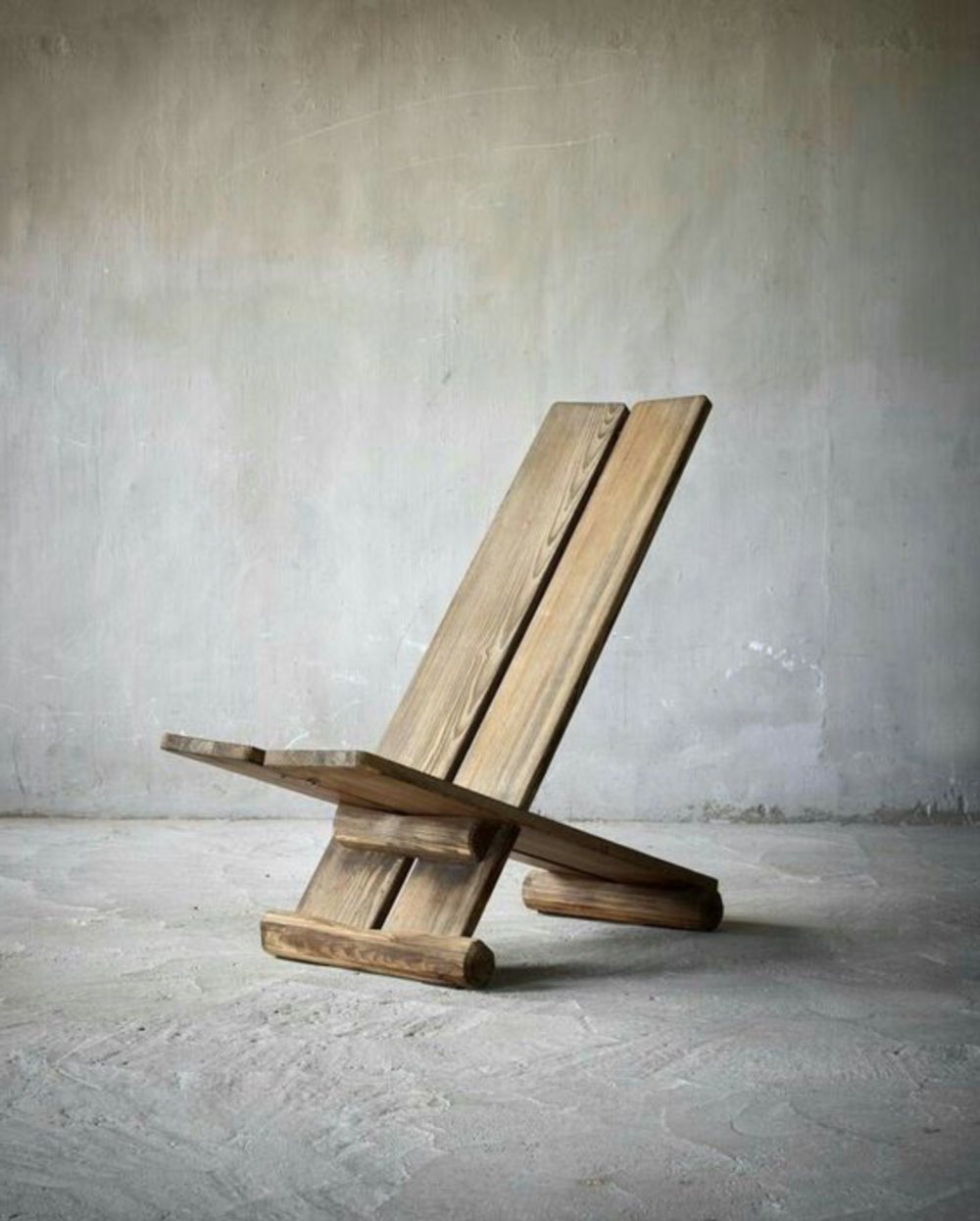PRESSURE/ VIKING CHAIR -  As sophisticated and uncomplicated as furniture construction gets. This paradox may seem a tad dramatized but look at this chair. Two boards joined by slotting a very long tenon through a simple mortise. The 'Stargazer' or 'Viking' chair is traced back to the Viking Age (c. 800-1050AD) and hallmarked by its 'X' construction. Archeologists say it was designed to be transportable for long oceanic voyages. And we thought IKEA invented flat pack shipping.