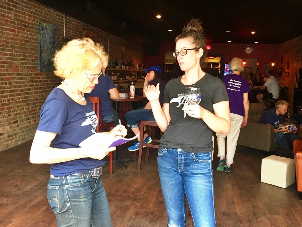 Laura (left) with FLIP NC co-founder Briana Brough