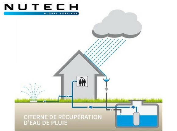 Citernes de récupération d'eau de pluie: des économies avec une eau gratuite pour vos WC, le lavage des sols et l'arrosage.