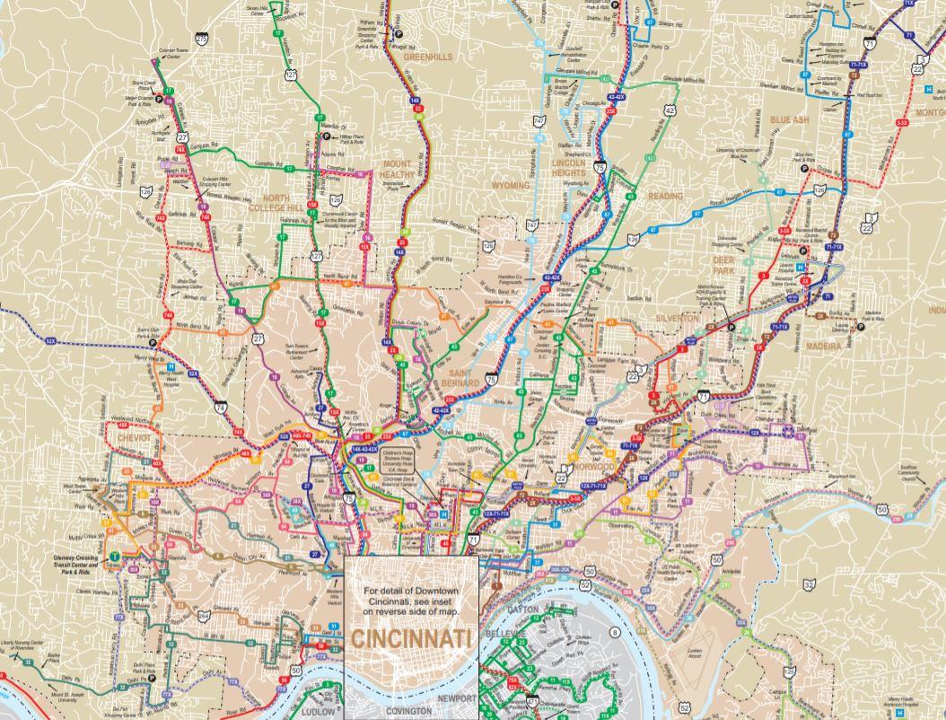 rethinking cincinnati's bus map — better bus coalition