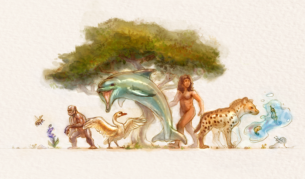 """""""A World of Diversity"""" - digital watercolor illustration created for 'More Than Sex-Ed' program"""