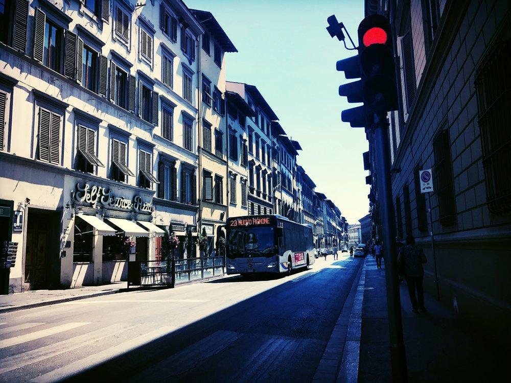 ATAF autobus on Via Camillo Cavour, Firenze, Italy.
