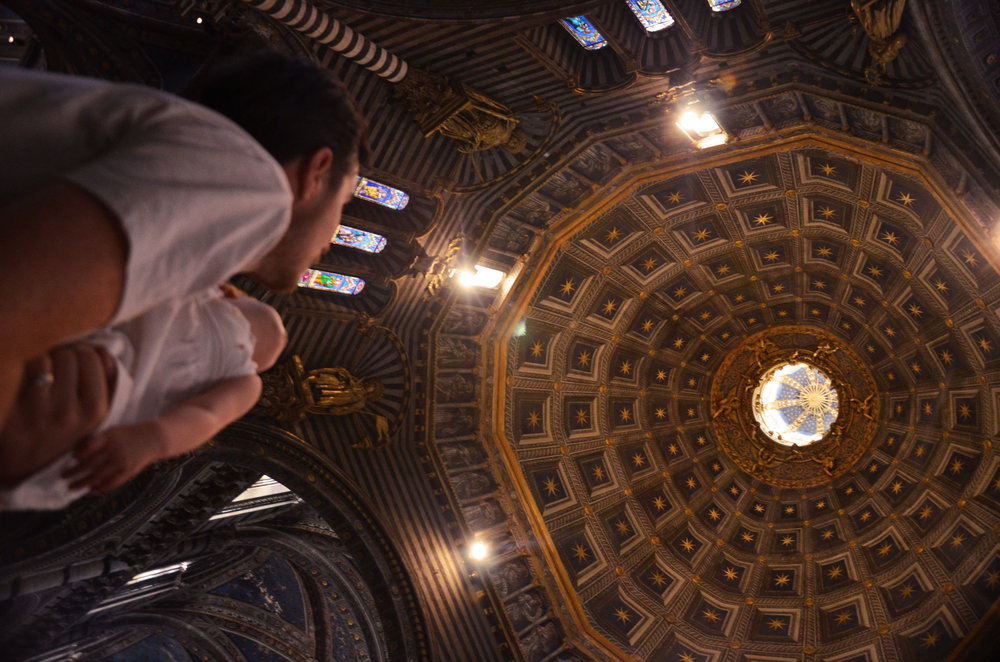 Inside Siena's domed cathedral