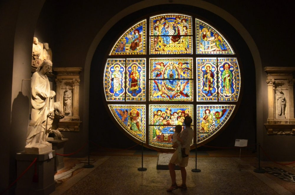 Duccio Stained Glass Siena