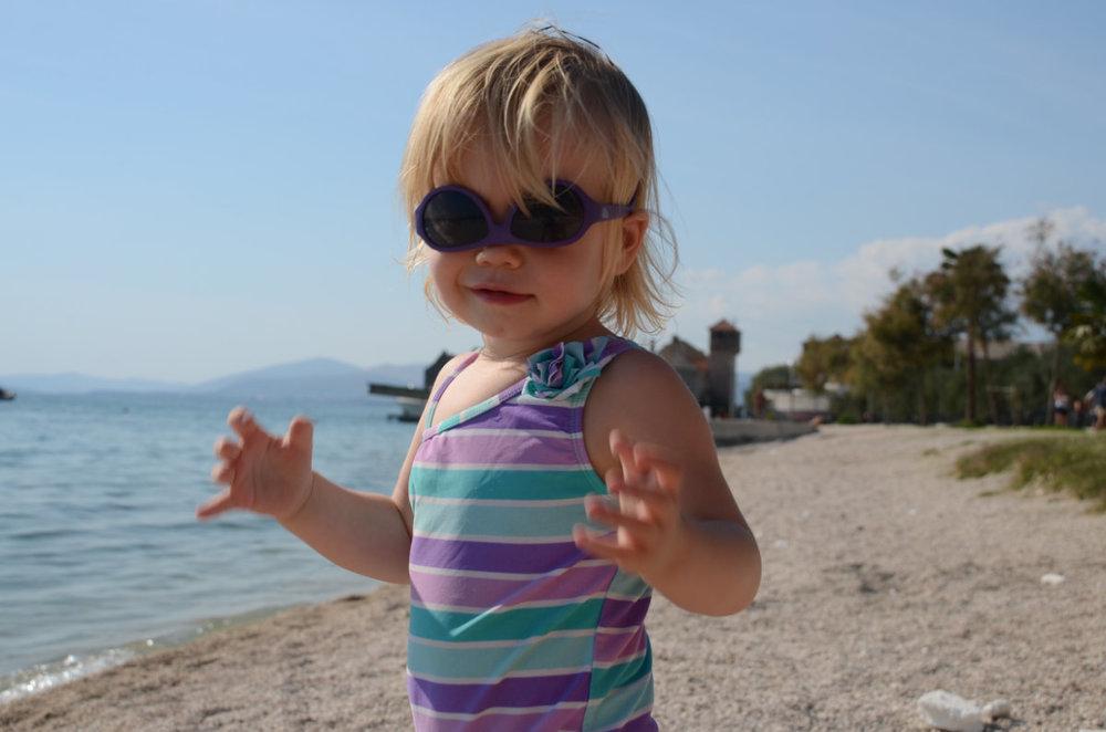 Celebrating Kailen's 2nd birthday in Split, Croatia