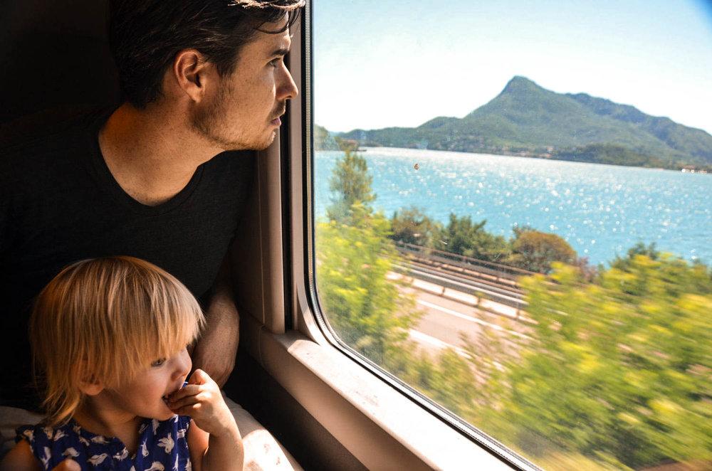 Train ride from Bergamo to Como.