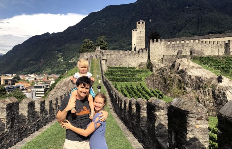 A rare family photo in Bellinzona, Switzerland.