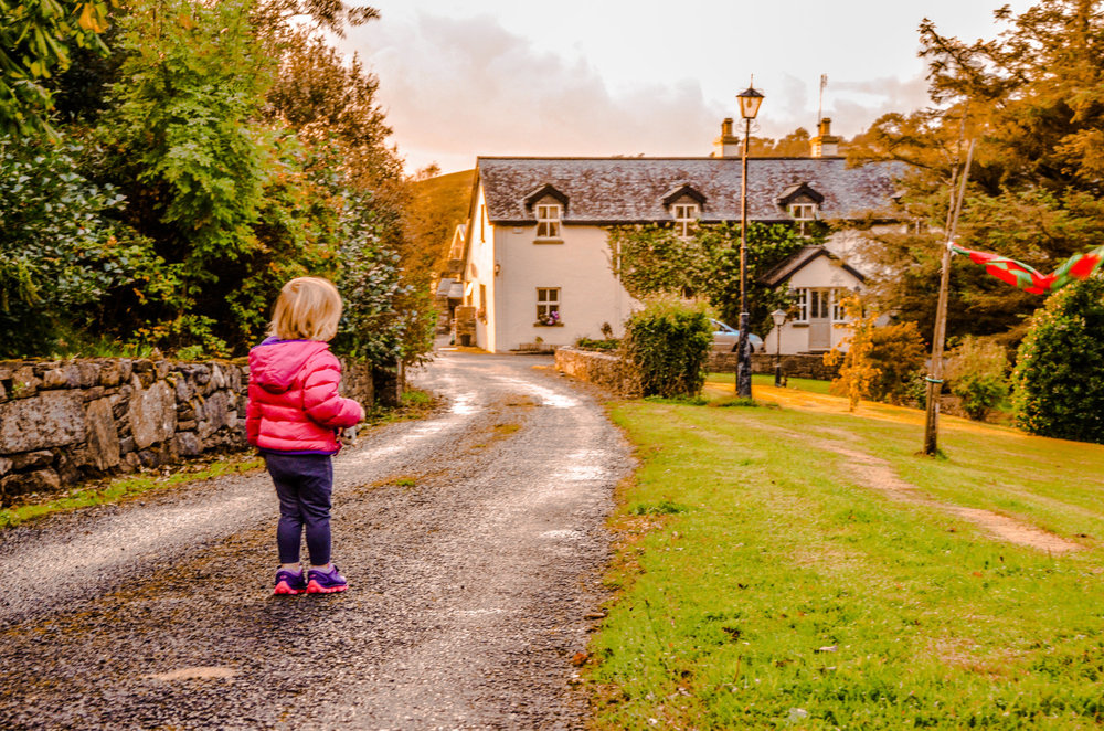 In Westport, Ireland, we saved boatloads of money by renting a home 3km outside of town but conveniently located on the Great Western Greenway, taking us directly into town.