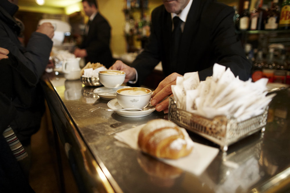 Italians Having Coffee