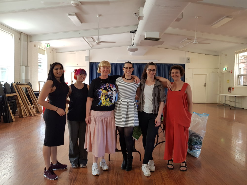 The Melbourne Clothing Exchange team, November 2017, Moonee Ponds.
