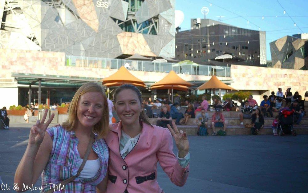 Ma Lou and Nadia at Federation Square.  Image by Oli & Ma Lou.