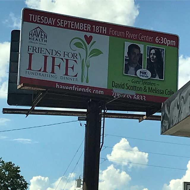 @david_scotton , Melissa Coles, and Susan Daigle Scotton from I Lived on Parker Avenue are EXCITED to be in Rome, Georgia to speak at the Haven Health Clinic banquet tonight!  David and Melissa's faces are literally all over town! More photos tonight... #adoption