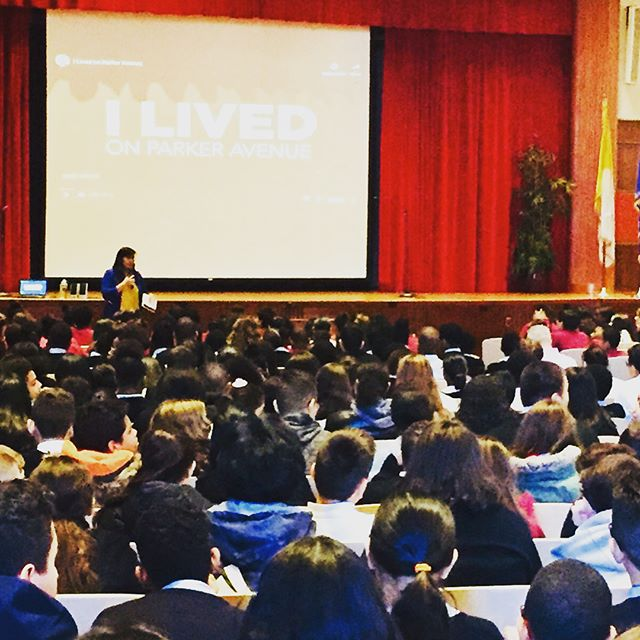 Excited to be in NYC today with the Sisters of Life and @archnewyork to share the beauty of adoption with an awesome group of 8th grade students!