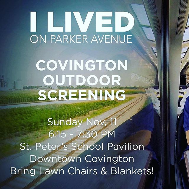 Join Susan Scotton from I Lived On Parker Avenue for a screening in Covington, LA tomorrow night!