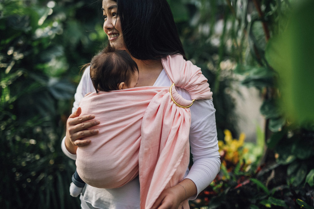 Close Enough To Kiss  - Rings at corsage positionShoulder capped evenly and comfortablyFabric tight across baby's backAirways are clear & chin NOT touching chestBaby's knees are higher then bum ('M' position)