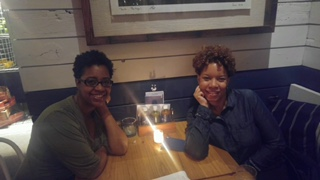 Me and one of my besties... we were hair twins :)