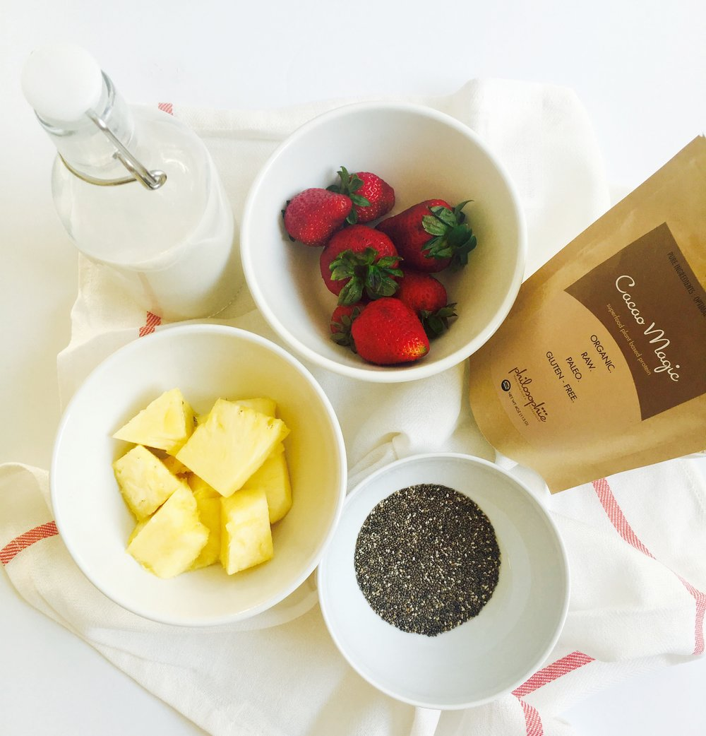 Chia seed pudding ingredients