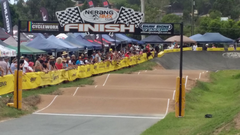 Sic Surface clear surface at Nerang BMX club track
