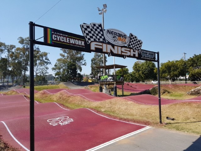 Nerang BMX Club track after the new Sic Surface colour treatment