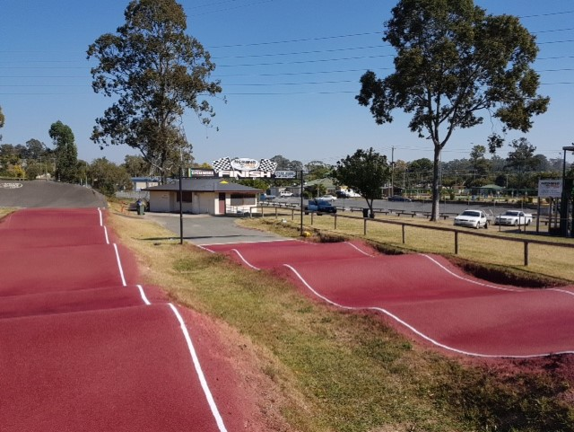 Sic Surface colour coating on the Nerang BMX Club track Australia