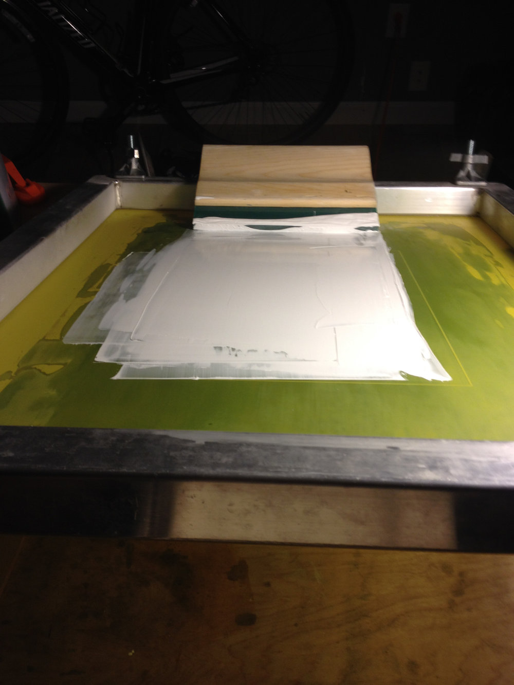 Screen Printing With White Ink