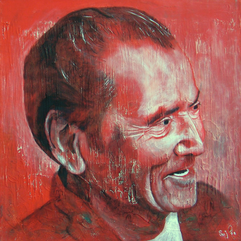 Bert : 51 X 51 cm oil on canvas