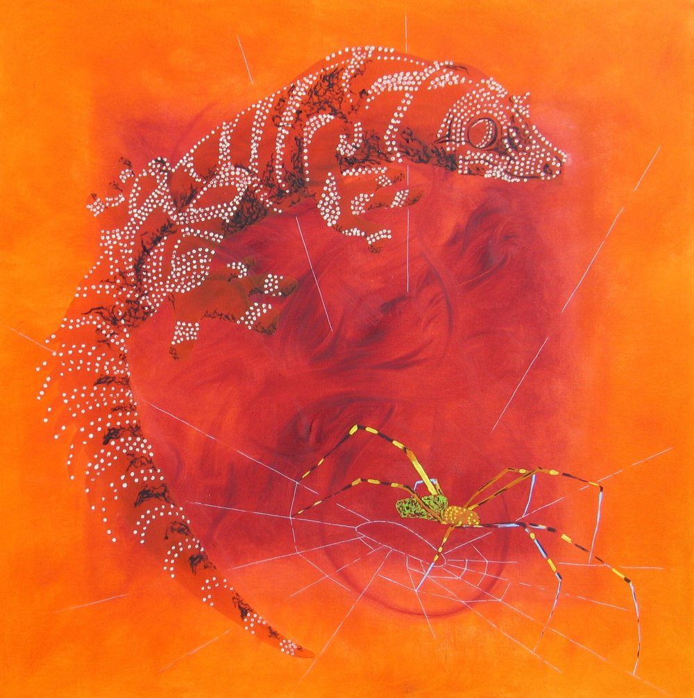 I'm Goanna : 92 X 92 cm oil on canvas