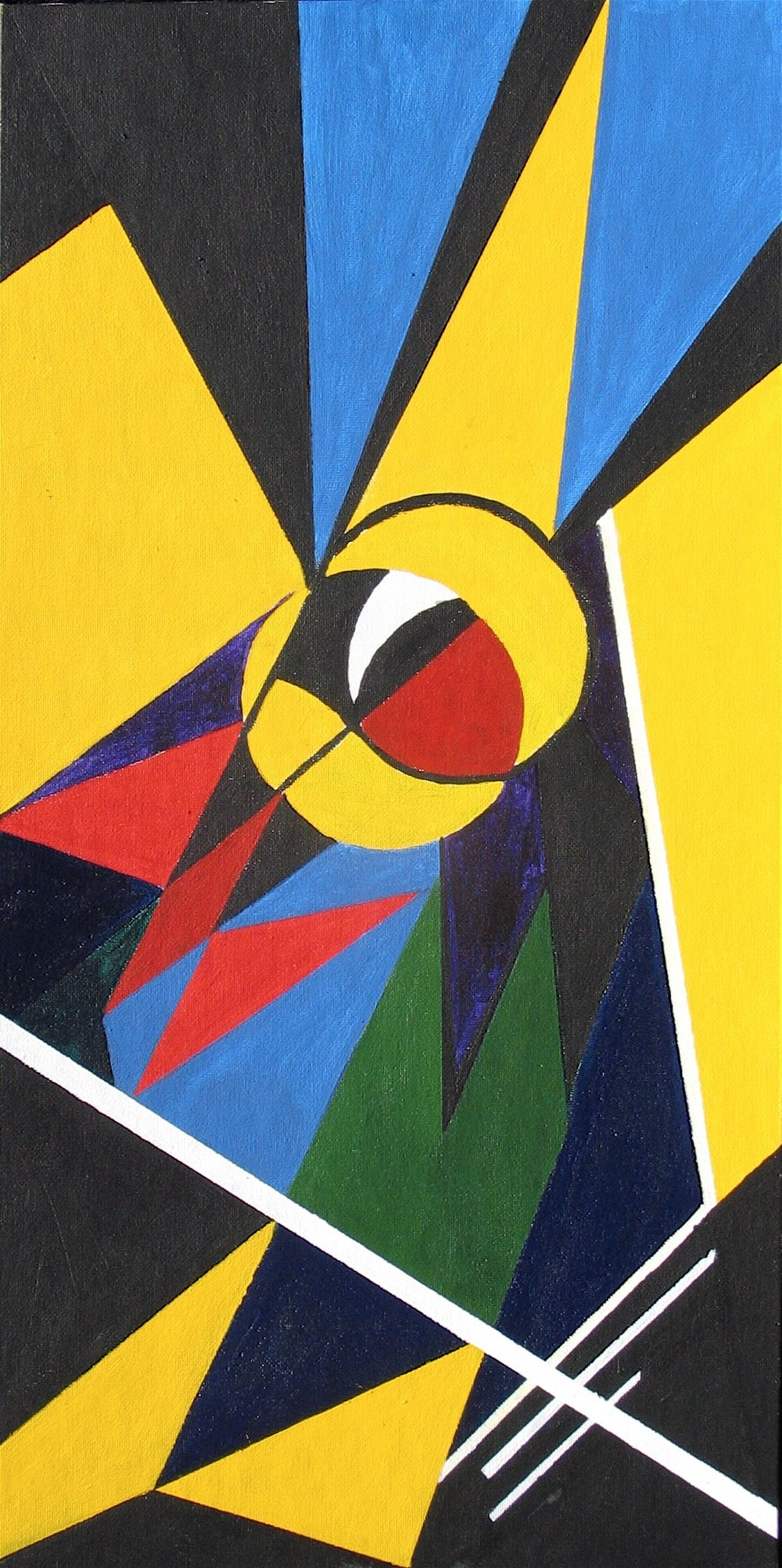 Bird's Eye : 30 X 61 cm acrylic on board