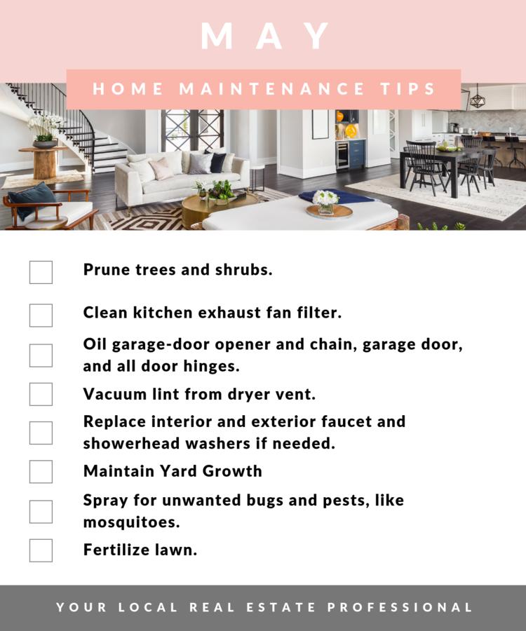 May Maintenance Tips