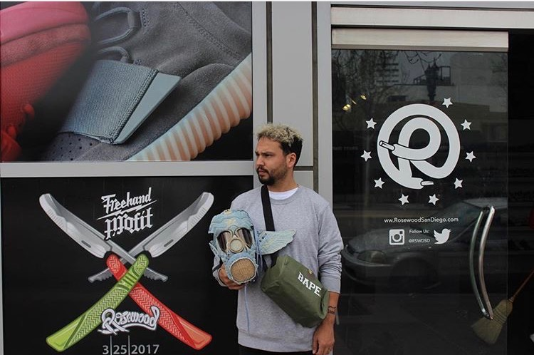 Dante Rowley outside of his shop Rosewood. All images via Dante's personal Instagram: DanteRowley